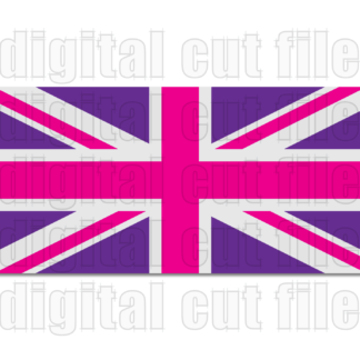pink and purple union jack united kingdom flag