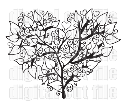 heart shaped tree illustration