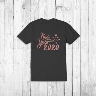 black tshirt new year 2020