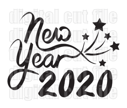 new year 2020 with stars